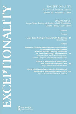 Large-Scale Testing of Students With Disabilities by Gerald A. Tindal