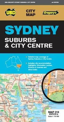 Sydney Suburbs & City Centre Map 218 9th ed by UBD Gregory's