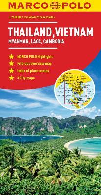 Thailand, Vietnam, Laos, Cambodia Marco Polo Map by Marco Polo