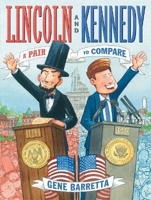 Lincoln and Kennedy by Gene Barretta
