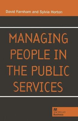 Managing People in the Public Services book