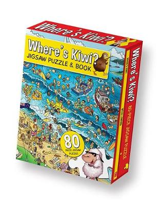 Where's Kiwi Jigsaw Puzzle & Book by Myles Lawford