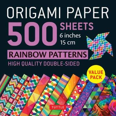 Origami Paper 500 sheets Rainbow Patterns 6 inch (15 cm) by Tuttle Publishing