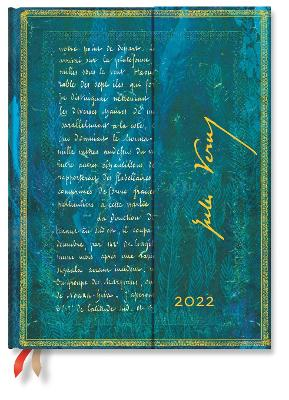 2022 Verne 20,000 Leagues, Ultra (Wk at a Time-Vertical) Diary: Hardcover, Vertical Layout, 100 gsm, wrap closure book