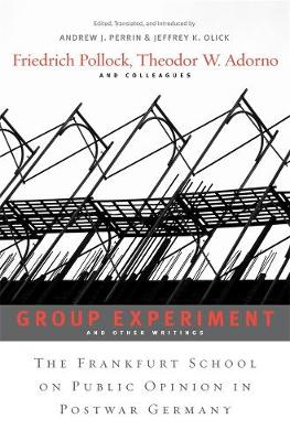 Group Experiment and Other Writings by Friedrich Pollock