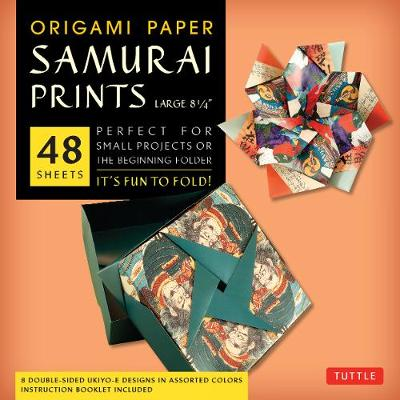 """Origami Paper - Samurai Prints - Large 8 1/4"""" - 48 Sheets: Tuttle Origami Paper: High-Quality Origami Sheets Printed with 8 Different Designs: Instructions for 6 Projects Included by Tuttle Publishing"""