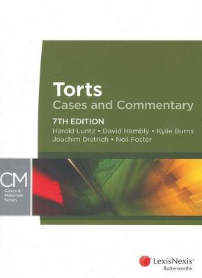 Torts: Cases and Commentary by Harold Luntz