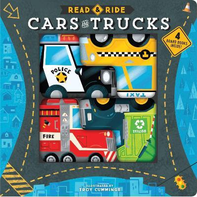Read & Ride: Cars and Trucks: 4 board books inside! book