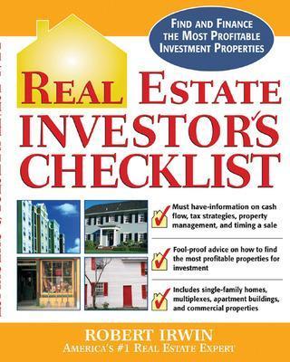 Real Estate Investor's Checklist by Robert Irwin