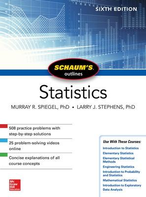 Schaum's Outline of Statistics, Sixth Edition by Murray R. Spiegel