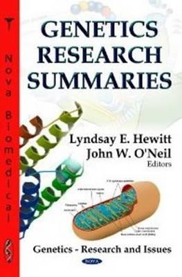 Genetics Research Summaries by Lyndsay E Hewitt