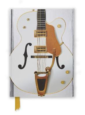 Gretsch White Guitar (Foiled Journal) by Flame Tree Studio
