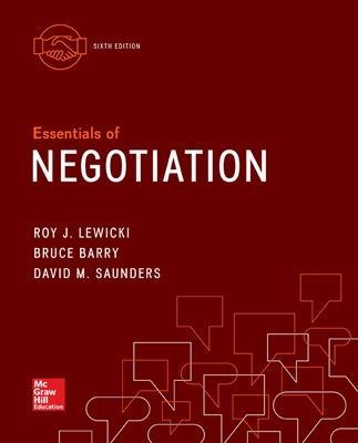 Essentials of Negotiation by Roy J. Lewicki