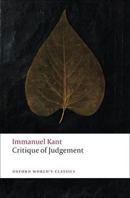 Critique of Judgement by Immanuel Kant