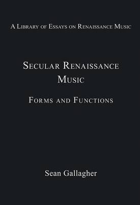 Secular Renaissance Music by Stanley Boorman