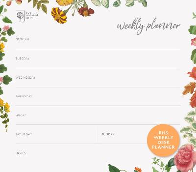 RHS Weekly Desk Planner by Royal Horticultural Society