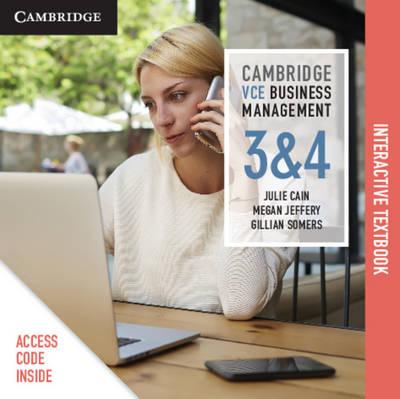 Cambridge VCE Business Management Units 3 and 4 Digital (Card) by Julie Cain