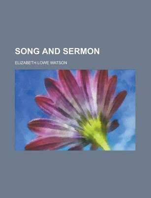 Song and Sermon by Elizabeth Lowe Watson