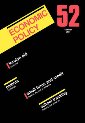 Economic Policy: European Forum by Georges De Menil