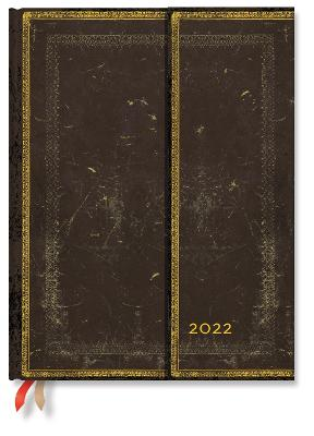 2022 Arabica, Ultra (Week at a Time) Verso Diary: Hardcover, Verso Layout, 100 gsm, wrap closure book