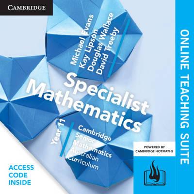 CSM AC Specialist Mathematics Year 11 Online Teaching Suite (Card) by Michael Evans