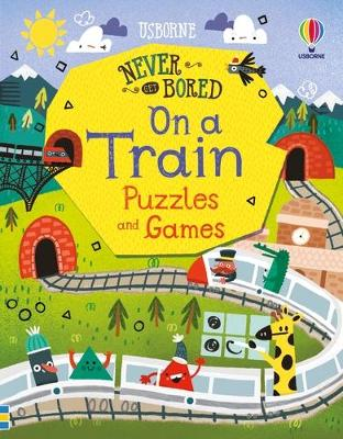 Never Get Bored on a Train Puzzles & Games book