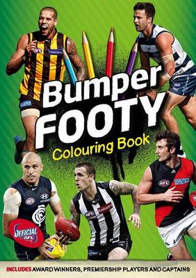 AFL Bumper Footy Colouring Book by Slattery Media Group