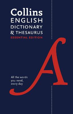 Collins English Dictionary and Thesaurus Essential edition book