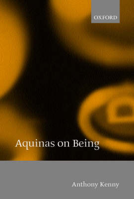 Aquinas on Being book