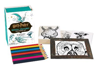 Harry Potter Magical Creatures Coloring Kit by Running Press