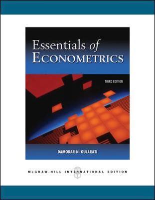 Essentials of Econometrics + Data CD by Damodar Gujarati