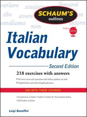 Schaum's Outline of Italian Vocabulary, Second Edition by Luigi Bonaffini