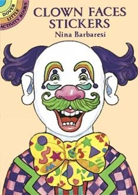 Clown Faces Stickers book