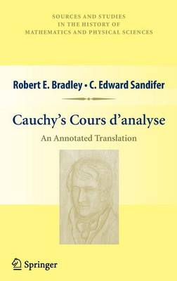 Cauchy's Cours d'analyse by C. Edward Sandifer