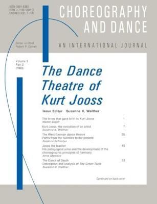 The Dance Theatre of Kurt Jooss book