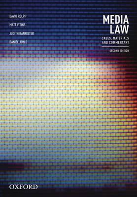 Media Law by David Rolph