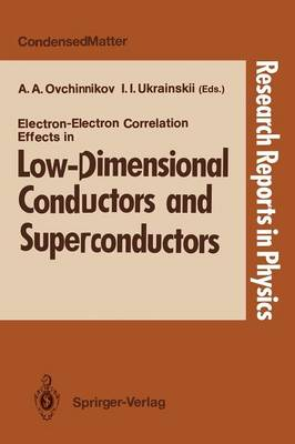 Electron-Electron Correlation Effects in Low-Dimensional Conductors and Superconductors by Alexandr A. Ovchinnikov