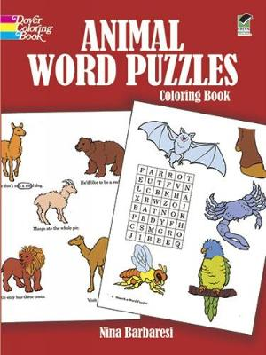 Animal Word Puzzles Coloring Book by Nina Barbaresi