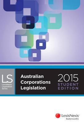 Australian Corporations Legislation 2015 by