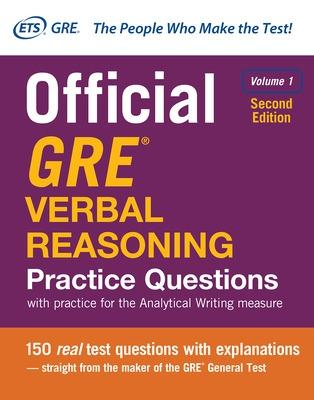 Official GRE Verbal Reasoning Practice Questions, Second Edition, Volume 1 by Educational Testing Service