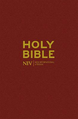 NIV Popular Burgundy Hardback Bible by New International Version