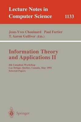 Information Theory and Applications II by Paul J. Fortier