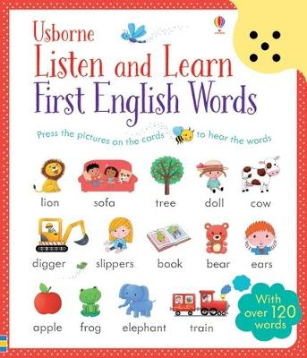 Listen and Learn First English Words book