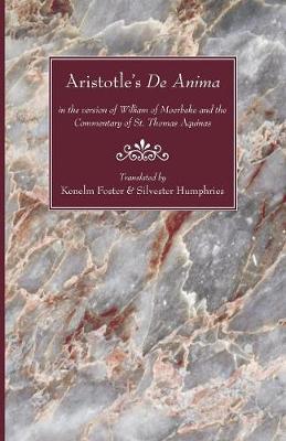 Aristotle's de Anima by Aristotle