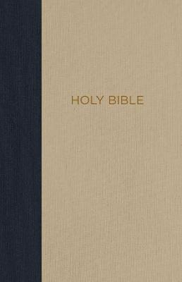 NKJV, Thinline Bible, Compact, Cloth over Board, Blue/Tan, Red Letter Edition, Comfort Print by Thomas Nelson
