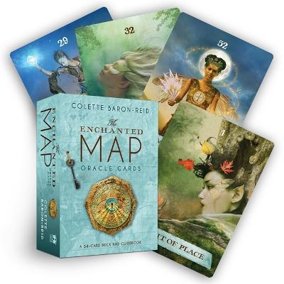 The Enchanted Map Oracle Cards: A 54-Card Deck and Guidebook by Colette Baron-Reid