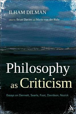 Philosophy as Criticism by Brian Davies