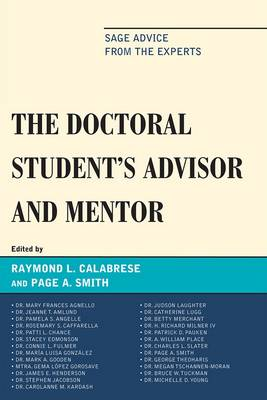 Doctoral StudentOs Advisor and Mentor by Raymond L. Calabrese