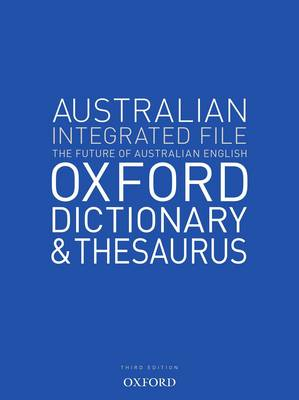 Australian Integrated School File Oxford Dictionary & Thesaurus book