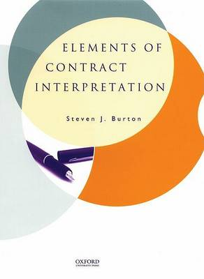 Elements of Contract Interpretation book